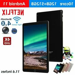 12+512GB WiFi Tablet Android 11  HD Bluetooth Game Tablet Co