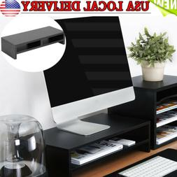 2 Tiers Computer Monitor Stand Desk Table Laptop Riser LCD T
