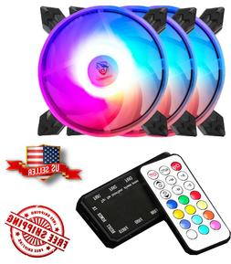 3-Pack Needmax Addressable RGB LED 120mm Remote Controller C