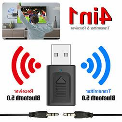 4in1 Bluetooth 5.0 Audio Transmitter Receiver USB Adapter Fo