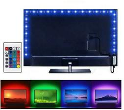 3FT/1M Computer TV Backlight 5V USB LED strip Light 5050 RBG