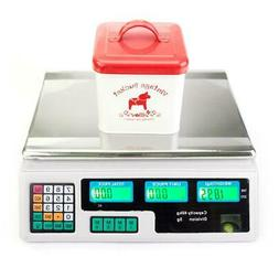 40kg/5g Digital Scale Computing Food Produce Electronic Coun