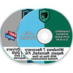 Windows 7 Install Reinstall Recovery Repair Disk for 32 & 64