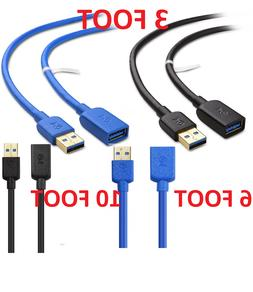 Cable Matters USB to USB Extension Cable  in Blue 10 Feet -