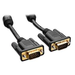 Cable Matters VGA to VGA Cable with Ferrites  6 Feet