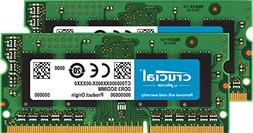 Crucial 16GB Kit  DDR3/DDR3L 1600 MT/s  SODIMM 204-Pin Memor