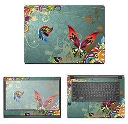 Decalrus - Protective Decal Butterfly Skin Sticker for Dell