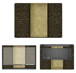 Decalrus - Protective Decal Damask Skin Sticker for Dell Lat