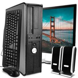 Dell Desktop Computer Package with WiFi, Dual Core 2.0GHz, 8