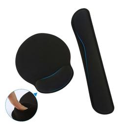 Premium Memory Foam Keyboard Wrist Rest and Mouse Pad Set fo