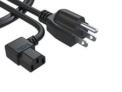 Pwr+ 3 Prong LCD TV AC Power Cord Cable:  Extra Short 3 Ft L