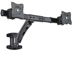 VIVO Dual Monitor Wall Mount Height Adjustable Stand Black D