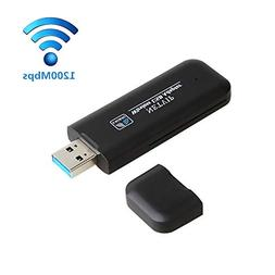 AC1200 Wireless USB WiFi Adapter, Dual Band 5.8G/867Mbps+2.4