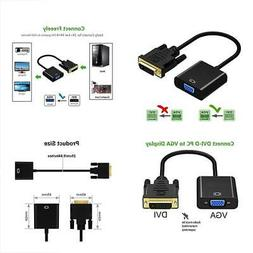 Friencity Active DVI to VGA Adapter Converter, Male to Femal