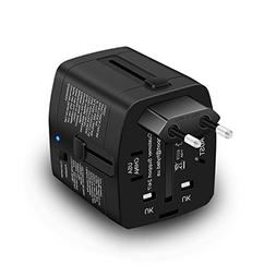 Travel Adapter and 2000 Watts Step Down Converter 220v to 11
