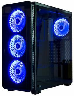 VIVO ATX Mid Tower Computer Gaming PC Case 6 Fan Ports, 3-sp
