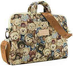 Kinmac Bear Patten Lightweight Design Laptop Shoulder Messen
