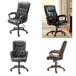 Bonded Leather Executive Office Chair Home Computer Laptop D