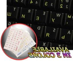 BULGARIAN KEYBOARD STICKERS ON TRANSPARENT BACKGROUND WITH Y