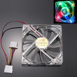 Cywulin Colorful Quad 4-LED Light Neon Clear 120mm PC Comput