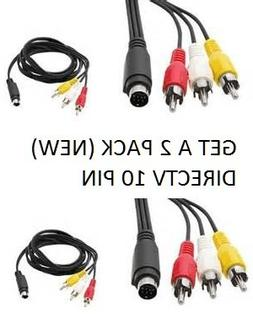 Computer Accessories DIREC TV 10 PIN COMPOSITE VIDEO CABLE A