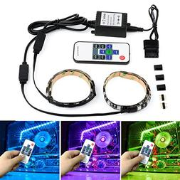 Autai Computer LED Light Strip RGB with Remote Control and M