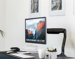 Computer Monitor Stand, Height Adjustable Arm Fits Up To 32