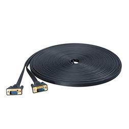 DTECH 15M Ultra Thin Flat Type Computer Monitor VGA Cable St