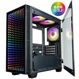 CUK Micro Continuum mATX Gaming Desktop Case with Tempered G