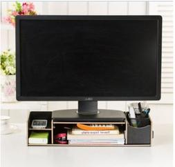 Vencer Cindy Decorative Wooden Monitor Riser and Desk Organi