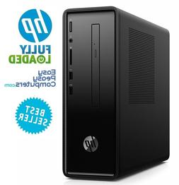HP Desktop Computer Windows 10 8GB 1TB Bluetooth WiFi DVD+RW