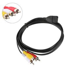 DOONJIEY USB 2.0 A Female to 3 RCA Male Audio Video AV Adapt