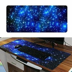Extend Large Galaxy Gaming Mouse Pad Non-Slip Keyboard Mat F