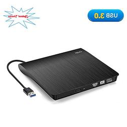 Cocopa External CD DVD Drive USB 3.0 Portable CD DVD +/-RW D