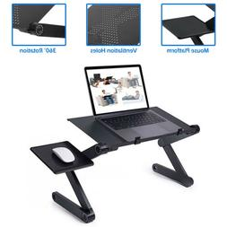 Folding Laptop Table Computer Desk Stand W/ Mouse Pad Bed So