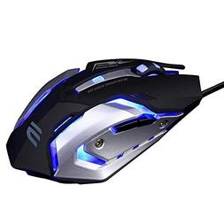 LENRUE Wired Gaming Mouse with LED Optical, 4 DPI Adjustment