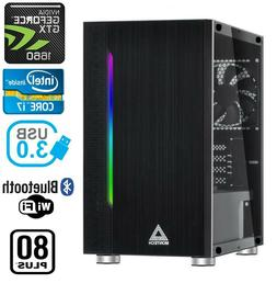 Gaming PC Desktop Computer RGB Intel i7 GTX 1660, 16GB RAM,