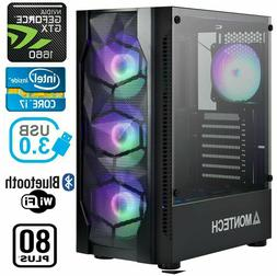 Gaming PC Desktop Computer RGB Intel i7, GTX 1660, 16GB RAM,