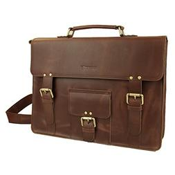 LB1 High Performance Genuine Leather Laptop Messenger Bag fo