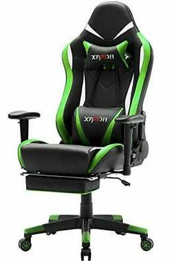 Ficmax Green Massage Gaming Chair High Back Big and Tall Com