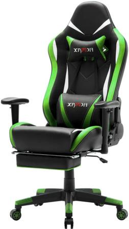 Ficmax Green Massage Gaming Chair High Back, Big and Tall Co