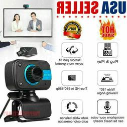 HD Webcam USB Computer Web Camera For PC Laptop Desktop Vide