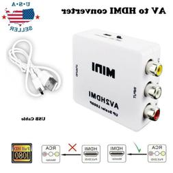 0Input AV RCA to HDMI Output Video Converter Adapter 1080p U