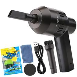 Keyboard Cleaner, USB Rechargeable Mini Vacuum Air Duster wi