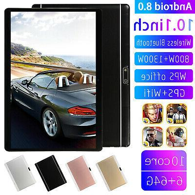 10.1 Inch HD Game Tablet Computer Wifi 3G PC Android 8.0 6+6