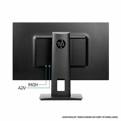 HP 23.8-inch Monitor with Tilt/Height Adjustment and Speakers
