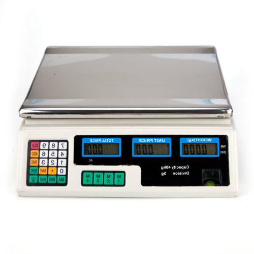 40kg/5g Digital Food Electronic Weight 88LB