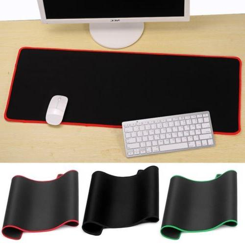 800x300mm Extended Gaming Mat/Pad XXL Black Mousepad Stitched Edges