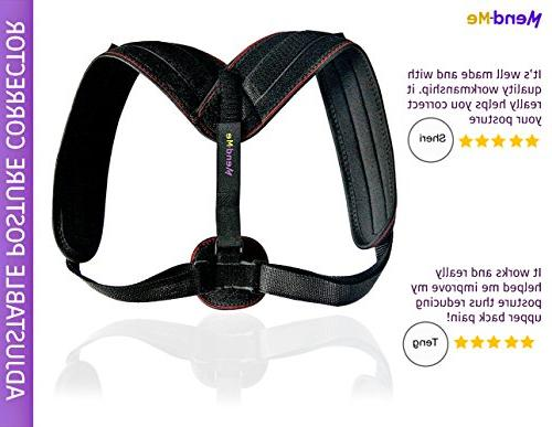Back Posture Corrector for & - Support, Adjustable Comfortable Neoprene Posture Upper Pain 8 for Perfect Posture