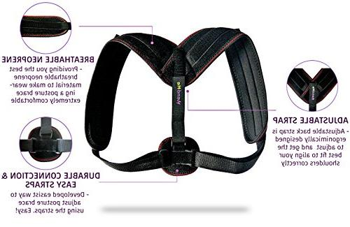 Back for Women & Men - Comfortable Improves Posture - Pain Relief, 8 Clavicle Brace for Perfect